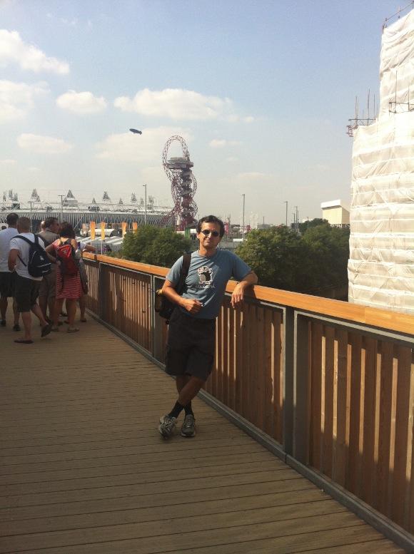 Feri az olimpiai park előtt