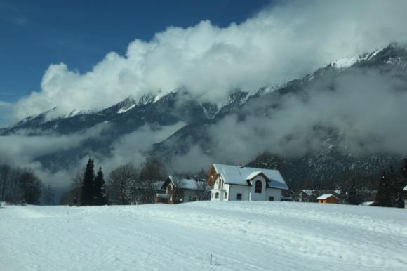 ausztriai havas táj