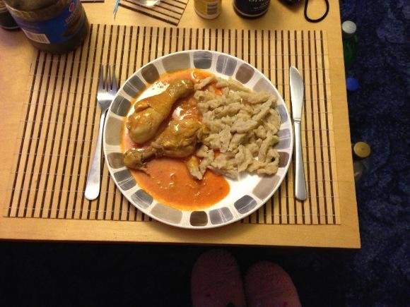 csirke a tányéron