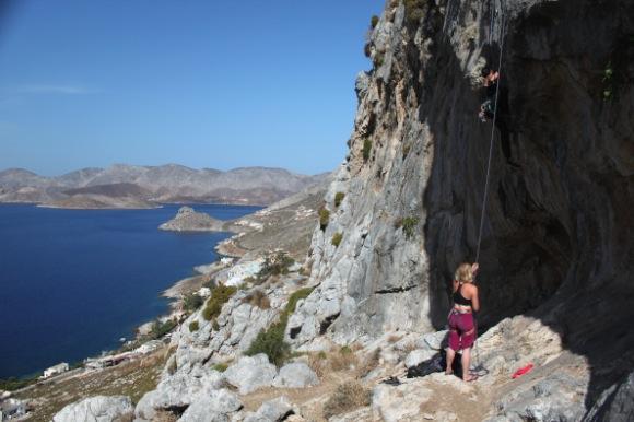 sea rock climbing