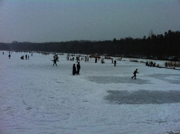 naplás-tó télen