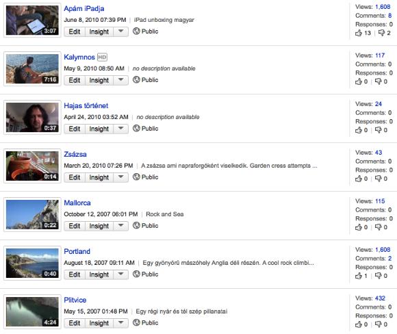 youtube lista