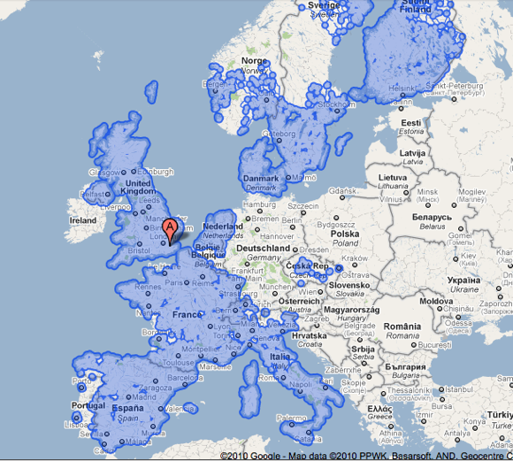 Google Street View Europa
