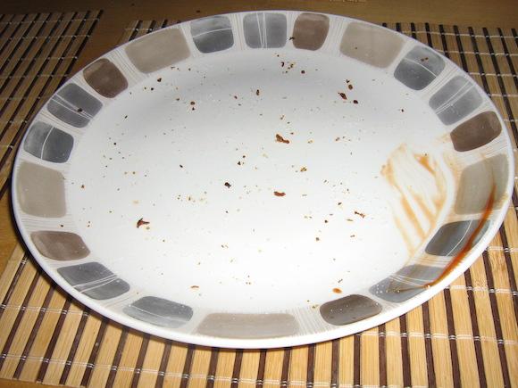 Üres tányér